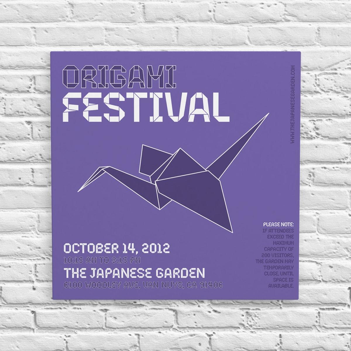 Origami Festival Poster