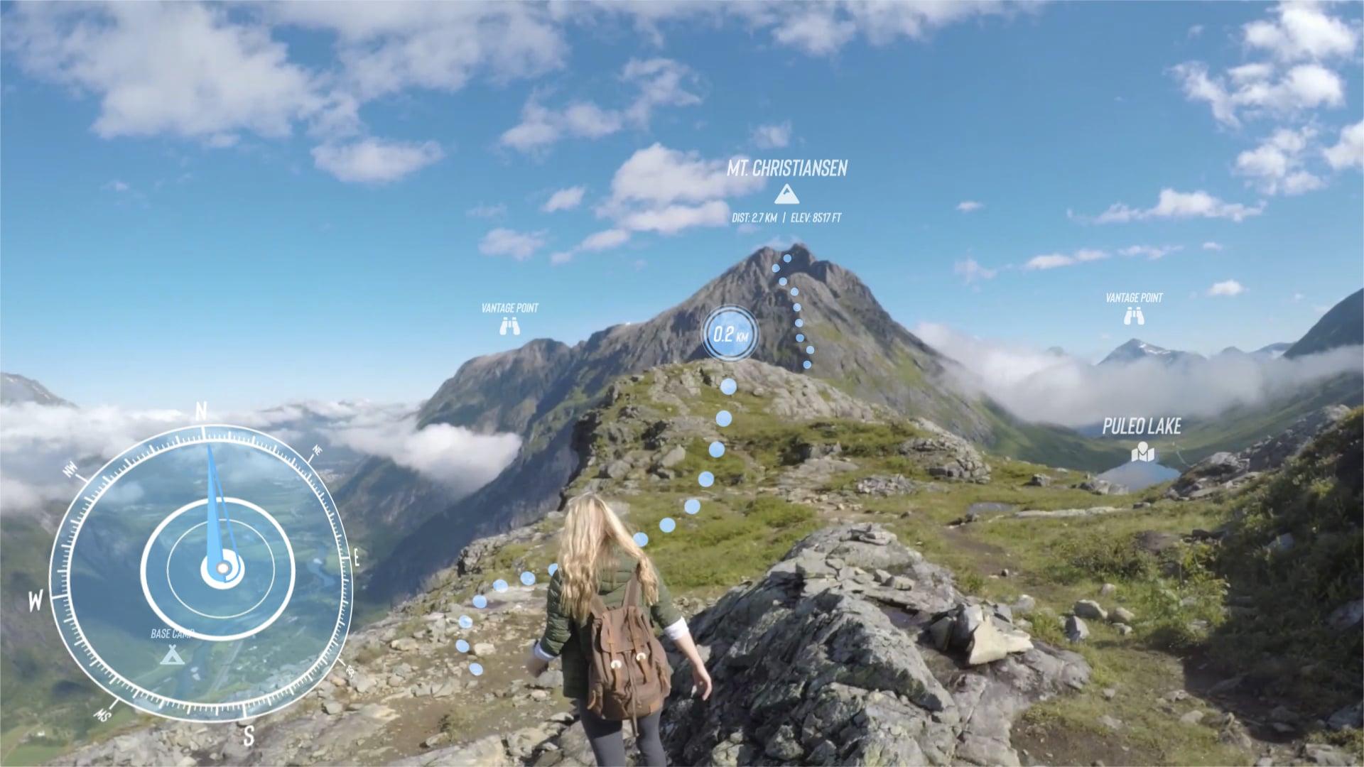 Wandervideo mit Augmented Reality Überlagerungen