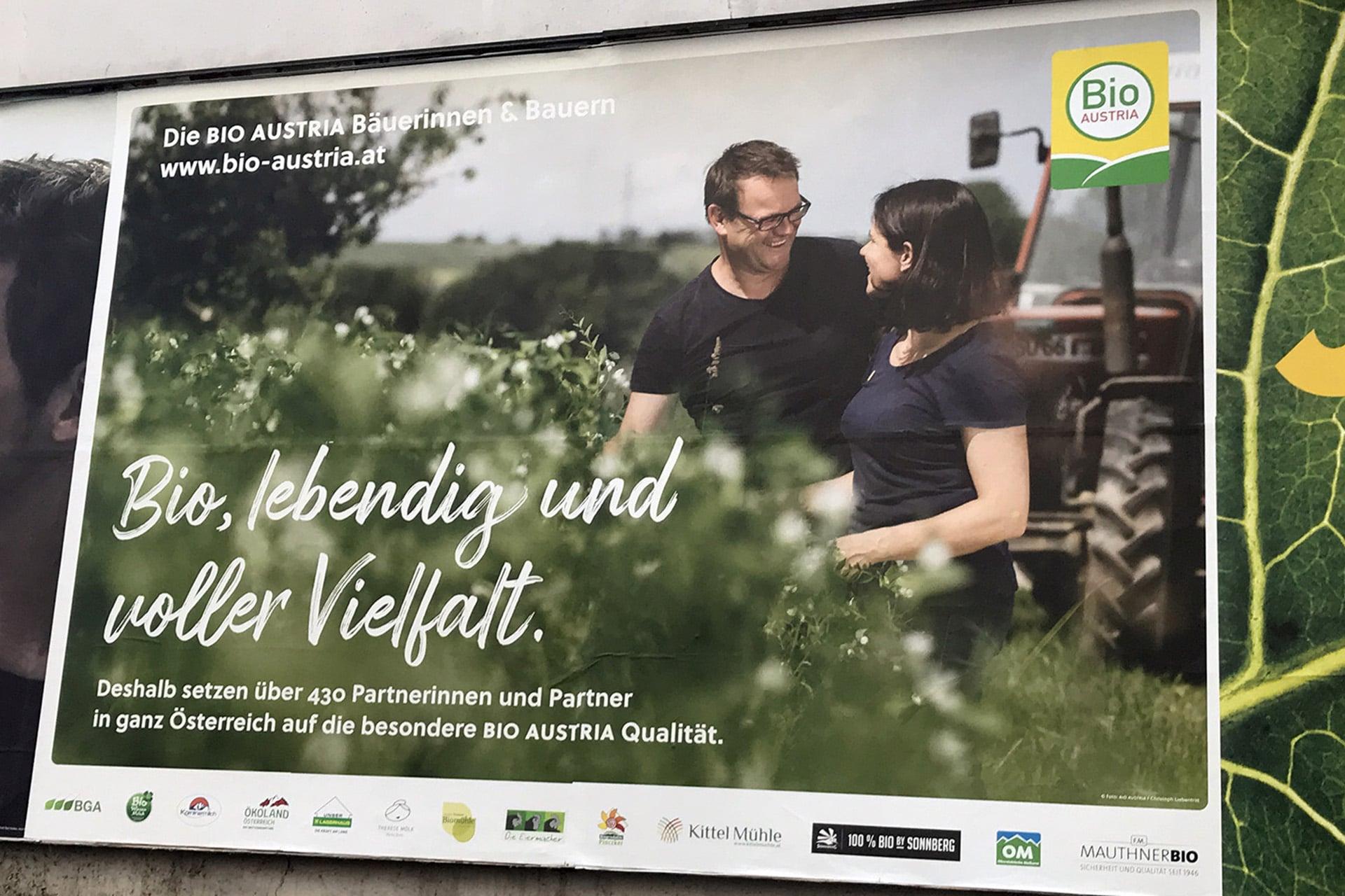 BIO AUSTRIA billboard campaign